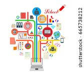 school. the icons set.... | Shutterstock . vector #665738212
