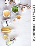 natural skincare cosmetic... | Shutterstock . vector #665741356