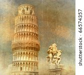 Pisa - retro styled picture - stock photo