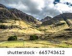 amazing scottish landscape at... | Shutterstock . vector #665743612