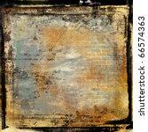 grunge framed film background - stock photo