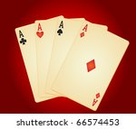 four aces. vector illustration