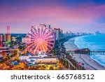 myrtle beach  south carolina ... | Shutterstock . vector #665768512