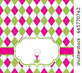 vector card template with golf... | Shutterstock .eps vector #665770762