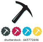 pickaxe icon | Shutterstock .eps vector #665772646