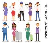 vector illustration airline... | Shutterstock .eps vector #665788246