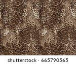 Stock photo seamless leopard pattern animal print 665790565