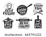 cooking label set. cook  food ... | Shutterstock .eps vector #665791222