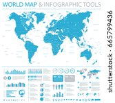vintage world map and... | Shutterstock .eps vector #665799436