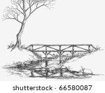 bridge over river sketch   Shutterstock .eps vector #66580087