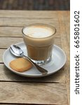 french cappuccino  coffee with... | Shutterstock . vector #665801602