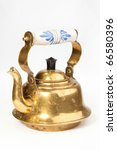 old teapot isolated on the... | Shutterstock . vector #66580396