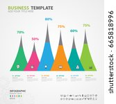 infographics elements diagram... | Shutterstock .eps vector #665818996