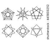geometric icon astrology stars. ... | Shutterstock .eps vector #665833252