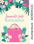 vertical template with shopping ... | Shutterstock .eps vector #665834122