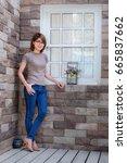portrait of beauty woman in... | Shutterstock . vector #665837662