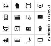 set of 16 editable cinema icons....