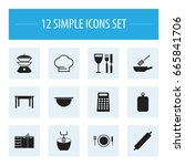 set of 12 editable cook icons....