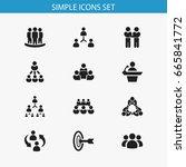 set of 12 editable business... | Shutterstock .eps vector #665841772