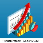 business data diagram | Shutterstock .eps vector #665849032