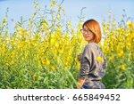 portrait of beauty woman in the ... | Shutterstock . vector #665849452