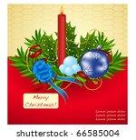 christmas holiday design vector | Shutterstock .eps vector #66585004