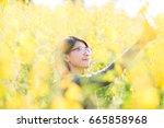 portrait of beauty woman in the ... | Shutterstock . vector #665858968