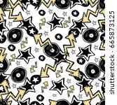 vector cute rock and roll...   Shutterstock .eps vector #665873125