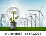 alternative energy concept with ... | Shutterstock . vector #665912098