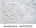 big water drops on the white...   Shutterstock . vector #665925022