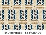 seamless african pattern.... | Shutterstock .eps vector #665926408