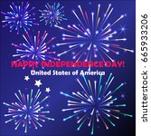 independence day background... | Shutterstock .eps vector #665933206