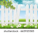white wooden fence with broken...