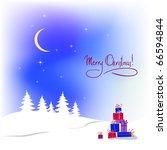 vector christmas background... | Shutterstock .eps vector #66594844