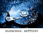 Fiber Optics Background With...