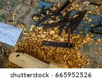 Small photo of Equipment makes gamelan, Gamelan is a traditional musical instrument of Java