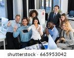 businessmen group working... | Shutterstock . vector #665953042
