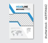 template design brochure ... | Shutterstock .eps vector #665954662
