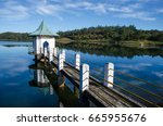 reflection of gregory lake in... | Shutterstock . vector #665955676