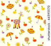 seamless baby background | Shutterstock .eps vector #66595570