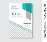 template design brochure ... | Shutterstock .eps vector #665955778
