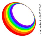 three dimensional rainbow... | Shutterstock .eps vector #665957548