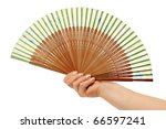 Fan In A Woman Hand Isolated On ...