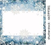 abstract winter background with ... | Shutterstock . vector #66599581