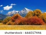 hill krivan  2494m  symbol of...   Shutterstock . vector #666017446