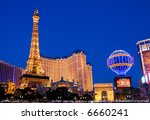 Eiffel Tower In Las Vegas At...