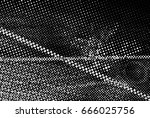 grunge black and white circle... | Shutterstock . vector #666025756