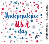 4th july usa independence day... | Shutterstock .eps vector #666025882