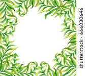 floral elements and leaves....   Shutterstock . vector #666030646
