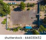 Aerial View Basketball Field O...